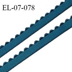 Elastique 7 mm picot bretelle et lingerie couleur vert canard largeur 7 mm haut de gamme Fabriqué en France prix au mètre