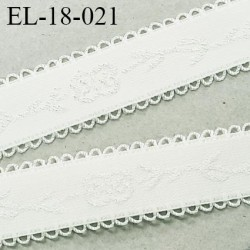 Elastique 18 mm bretelle et lingerie et autre très  belle qualité couleur chantilly largeur 18 mm + picot prix au mètre