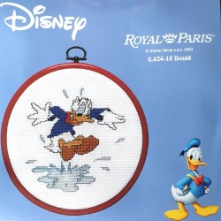 kit à broder ROYAL PARIS avec tambour Donald Disney