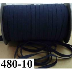 élastique plat largeur 10 mm couleur bleu marine vendu au mètre