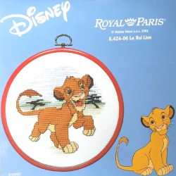 kit à broder ROYAL PARIS avec tambour le roi lion Disney