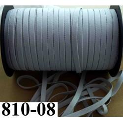 élastique plat largeur 08 mm couleur gris clair vendu au mètre