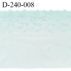 Dentelle broderie 24 cm très haut de gamme extensible couleur menthe douce très belle prix pour un mètre