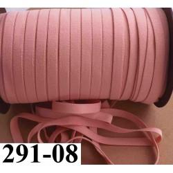 élastique plat largeur 08 mm couleur rose camélia vendu au mètre