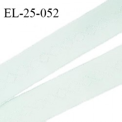 Elastique 24 mm bretelle et lingerie couleur menthe douce fabriqué en France pour une grande marque largeur 24 mm prix au mètre