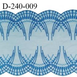 Dentelle broderie 24 cm très haut de gamme couleur bleu royal très belle prix pour un mètre
