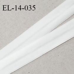 Elastique lingerie 14 mm pré plié haut de gamme fabriqué en France couleur blanc largeur 14 mm prix au mètre