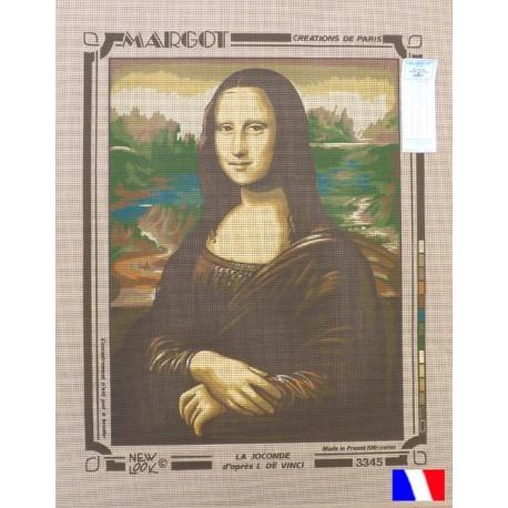 Canevas 50 x 65 cm marque MARGOT création de Paris LA JOCONDE de Léonard de Vinci fabrication française