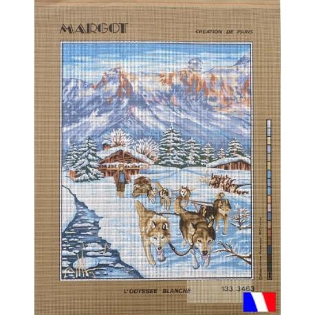 Canevas 50 x 65 cm marque MARGOT création de Paris L'ODYSSEE BLANCHE fabrication française