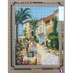 Canevas à broder 50 x 65 cm marque MARGOT création de Paris la fontaine fabrication française
