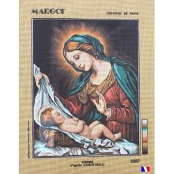 Canevas à broder 50 x 65 cm marque MARGOT création de Paris Vierge d'après Carlo Dolci fabrication française