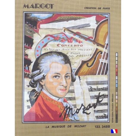 Canevas à broder 50 x 65 cm marque MARGOT création de Paris la musique de Mozart fabrication française