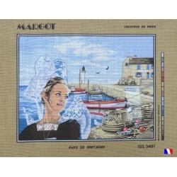 Canevas à broder 50 x 65 cm marque MARGOT création de Paris pays de Bretagne fabrication française
