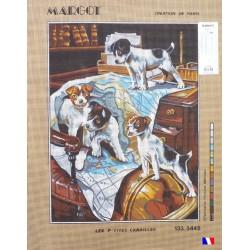 Canevas à broder 50 x 65 cm marque MARGOT création de Paris les p'tites canailles fabrication française