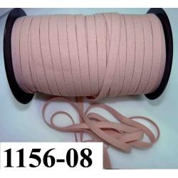 élastique plat largeur 08 mm couleur rose chair vendu au mètre