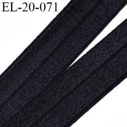 élastique 20 mm pré plié noir souple largeur 20 mm,  pour , tissus en lycra ou extensibles  prix au mètre