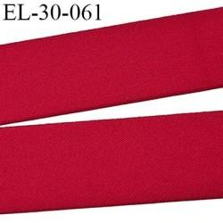 élastique 30 mm spécial lingerie, sport  caleçon couleur rouge oeko-tex haut de gamme prix au mètre