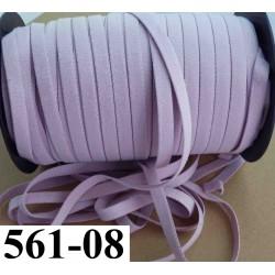 élastique plat épaisseur fine largeur 08 mm couleur lilas vendu au mètre