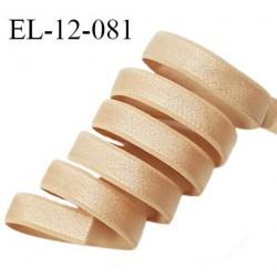 Elastique 12 mm bretelle lingerie haut de gamme fabriqué en France couleur chair élastique souple et brillant prix au mètre