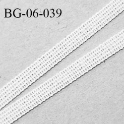 Droit fil à plat 6 mm spécial lingerie et prêt-à-porter couleur blanc grande marque fabriqué en France prix au mètre