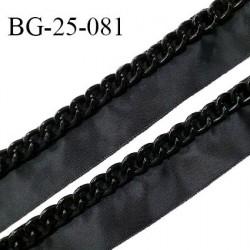 Galon ruban 25 mm ruban en polyester effet satiné couleur noir largeur 25 mm prix au mètre
