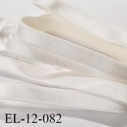 Elastique 12 mm bretelle lingerie haut de gamme fabriqué en France couleur chantilly élastique souple et brillant prix au mètre