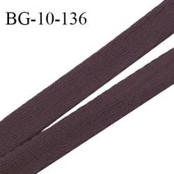 Devant bretelle 10 mm en polyamide attache bretelle rigide couleur ébène haut de gamme prix au mètre