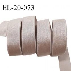Elastique 21 mm bretelle et lingerie couleur brume rosée brillant fabriqué en France pour une grande marque prix au mètre