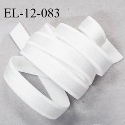 Elastique 12 mm bretelle lingerie haut de gamme fabriqué en France couleur blanc prix au mètre
