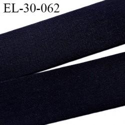 élastique 30 mm spécial lingerie, sport  caleçon couleur noir tirant sur le marine oeko-tex haut de gamme prix au mètre