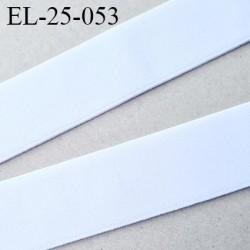 élastique 25 mm spécial lingerie et sport très belle qualité couleur blanc doux forte élasticité certifié oeko tex prix au mètre