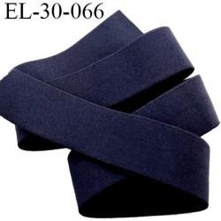élastique 30 mm spécial lingerie, sport  caleçon couleur bleu marine très foncé oeko-tex haut de gamme prix au mètre