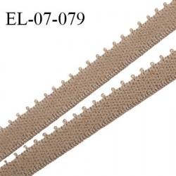 Elastique picot 7 mm lingerie couleur café au lait haut de gamme Fabriqué en France prix au mètre