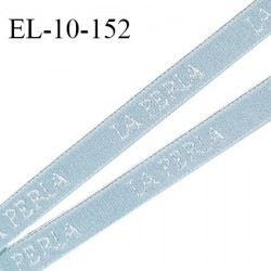 Elastique lingerie 10 mm très haut de gamme élastique souple couleur bleu inscription La Perla largeur 10 mm prix au mètre