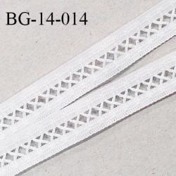 BG-14-014 Galon ruban entre-deux 14 mm haut de gamme couleur blanc fabriqué en France prix au mètre