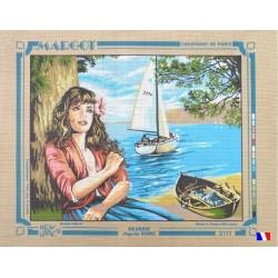 Canevas à broder 50 x 65 cm marque MARGOT création de Paris Rêverie d'après Rome fabrication française
