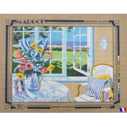Canevas à broder 50 x 65 cm marque MARGOT création de Paris Reflets du soleil fabrication française
