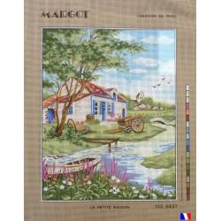 Canevas à broder 50 x 65 cm marque MARGOT création de Paris La petite maison fabrication française