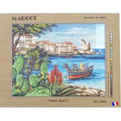 Canevas à broder 50 x 65 cm marque MARGOT création de Paris Infinie beauté fabrication française