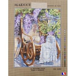 Canevas à broder 50 x 65 cm marque MARGOT création de Paris Le rocking chair d'après GRANIOU fabrication française