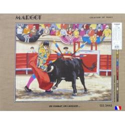 Canevas à broder 50 x 65 cm marque MARGOT création de Paris Un combat un langage fabrication française