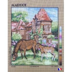 Canevas à broder 50 x 65 cm marque MARGOT création de Paris Le manoir fabrication française
