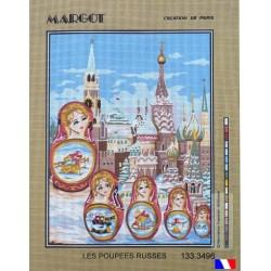 Canevas à broder 50 x 65 cm marque MARGOT création de Paris Les poupées russes fabrication française