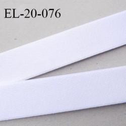 Elastique 20 mm spécial lingerie sport bonne élasticité couleur blanc oeko tex haut de gamme largeur 20 mm prix au mètre