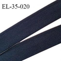 Elastique 35 mm spécial lingerie sport et caleçon couleur bleu denim doux au toucher haut de gamme prix au mètre