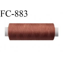 Bobine 500 m fil Polyester n° 120  marron clair 500 mètres fil européen bobiné en Europe ou France certifié oeko tex