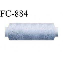 Bobine 500 m fil Polyester n° 120 gris 500 mètres fil européen bobiné en Europe ou France certifié oeko tex