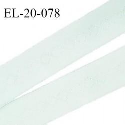 Elastique 19 mm bretelle et lingerie couleur menthe douce fabriqué en France pour une grande marque largeur 19 mm prix au mètre