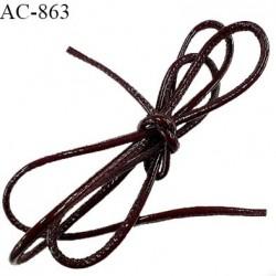 Cordon cousu simili façon cuir longueur 150 cm grande marque créatrice parisienne Nana Bella prix à l'unité