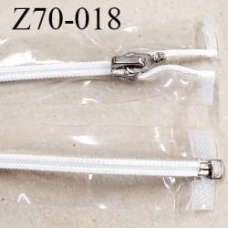 Fermeture zip 70 cm couleur transparente vinyle séparable glissière nylon curseur métal ouvert spécial prix à l'unité